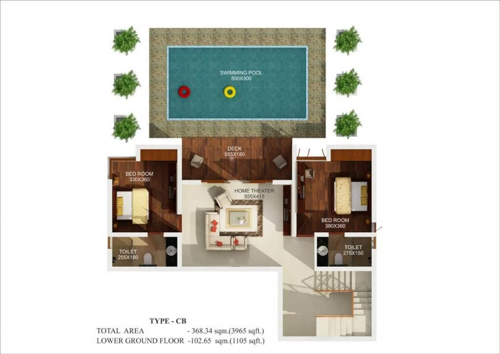 4 bhk luxury villas in thrissur